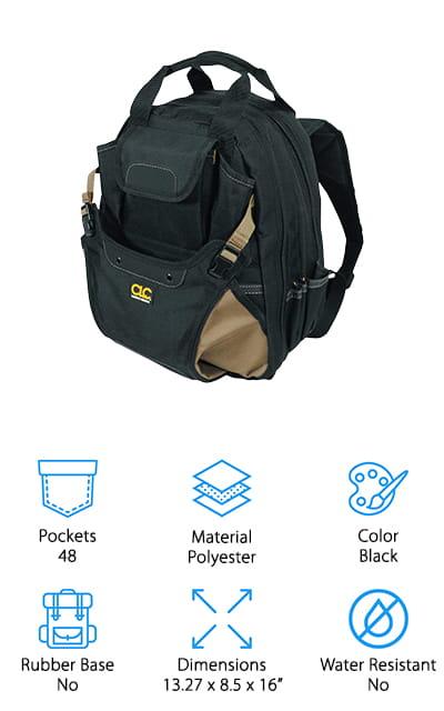 CLC 1134 Carpenter's Tool Backpack