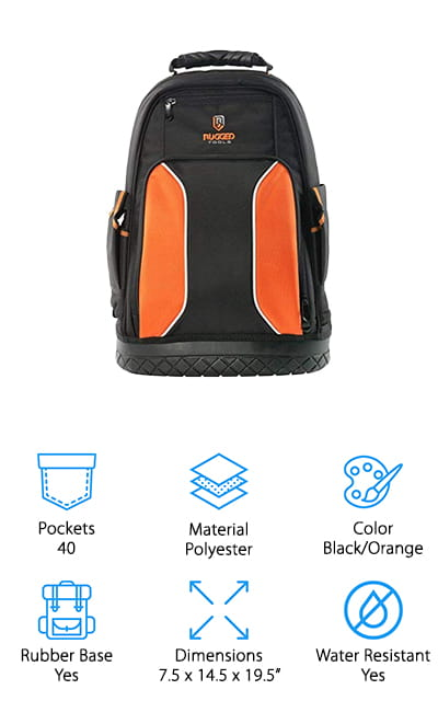 Rugged Tools Pro Tool Backpack