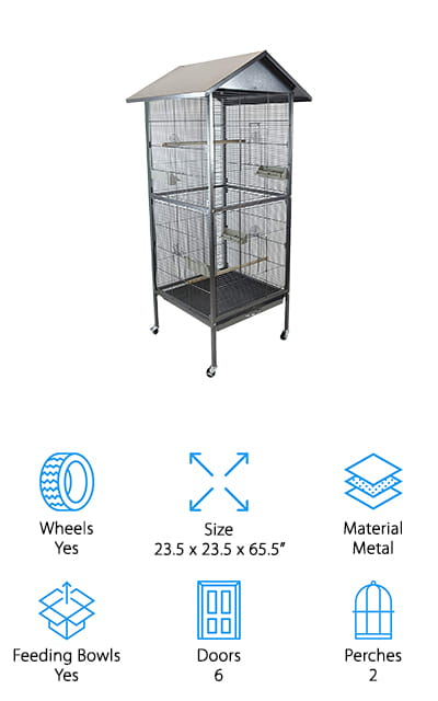 Homey Pet House Shape Bird Cage