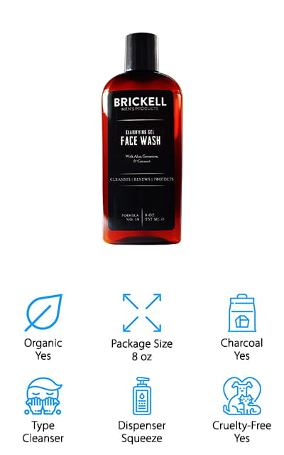 Brickell Clarifying Face Wash