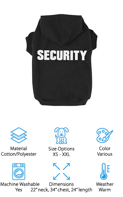 BINGPET Security Patterns Pet Hoodie