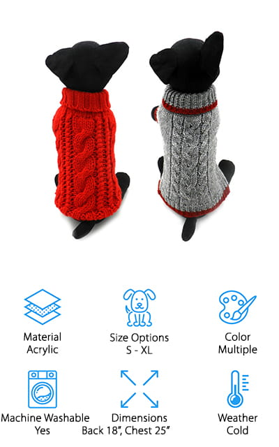 Dofyou Turtleneck Dog Sweaters