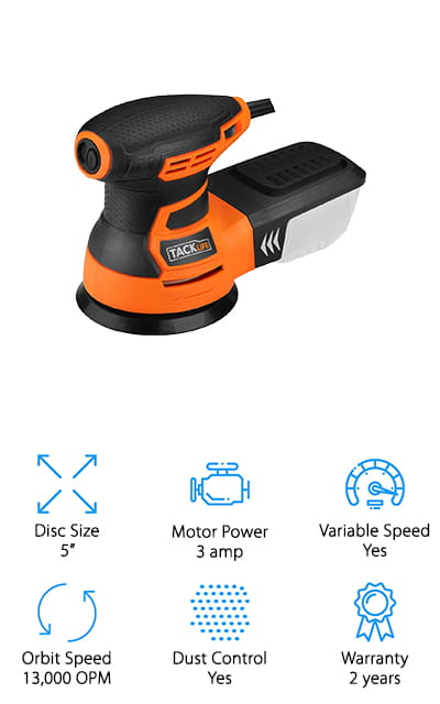 TACKLIFE Random Orbit Sander