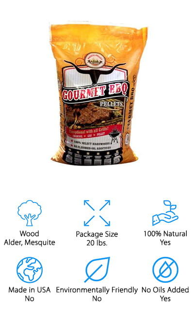 With this pack, you're going to have plenty of mesquite pellets to make your next favorite BBQ dish (and then some). It's made with 100% hardwood, in a blend of 70/30 alder and mesquite. That means you always know what you're getting and you can count on the wood to be high quality. There are no oils or other additives mixed in. What's really great is you can use this blend to season just about anything you could possibly want, from meats and seafoods to even breads and cheeses. No matter what you do, you're going to have some great flavor to go along with it. The company actually makes other blends that you can choose from as well, so you can get the perfect flavor for whatever you want to try next. Great for tenderizing as well as enhancing the flavor, you'll be able to get anything from a slight hint of smoke to a really strong accent.