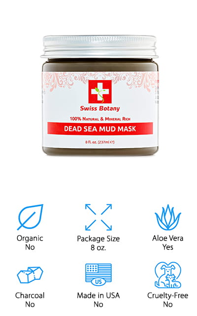 If you want some of the best dead sea mud then you're going to want to take a closer look right here. It's actually 100% natural, which is definitely something to take a closer look at. On top of that, you're going to have a product that's intended for acne prone and dry skin. It's designed to help hydrate the skin using aloe vera as well as several other products, like the dead sea mud itself. This mask can help with exfoliating and getting rid of the dirt and debris that gets trapped in the face and the pores every day. What you're really going to love is that this product comes with a 12-month guarantee. You get a full year to try it out and if you decide that you don't like it or it doesn't work for you all you have to do is contact the company to get a refund. That's definitely a bonus.