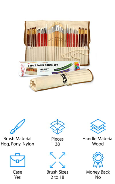 Artify Paint Brush Art Set