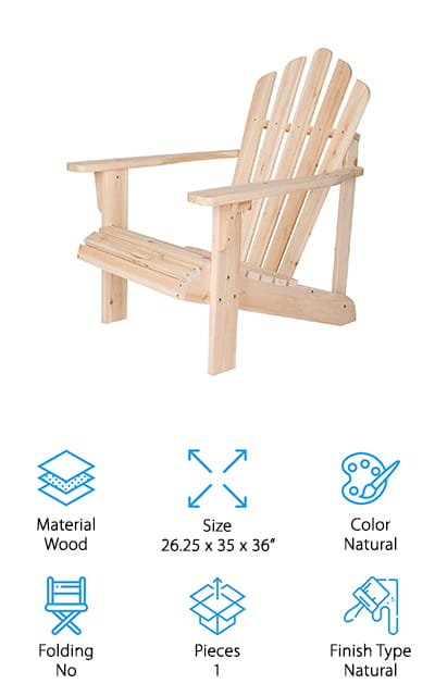 Shine Company Inc. Adirondack Chair