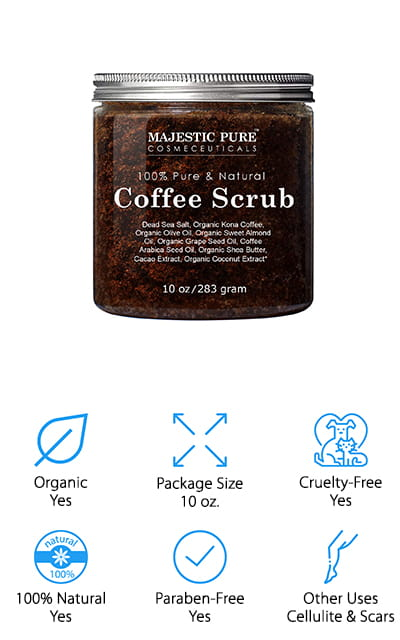 Majestic Pure Coffee Scrub