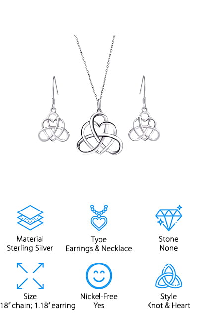 Silver Light Celtic Jewelry Set