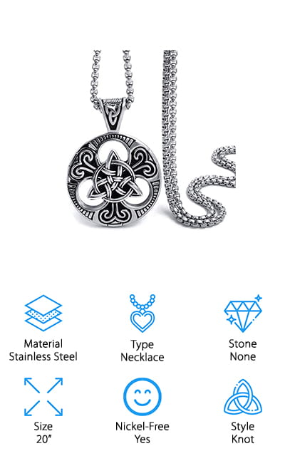 Elfasio Celtic Knot T Necklace