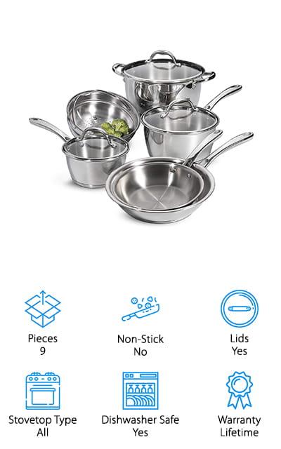 Tramontina Tri-Ply Cookware Set