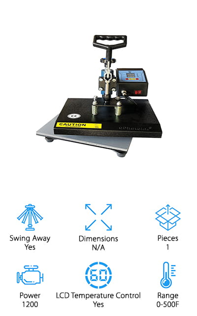 ePhotoInc Swing Away Heat Press