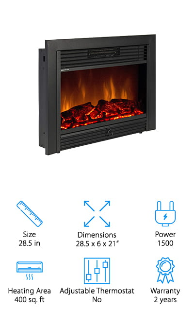 KUPPET Electric Fireplace Insert