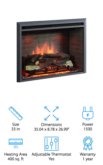PuraFlame Western Electric Fireplace Insert
