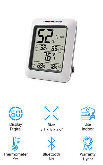 ThermoPro TP50 Digital Hygrometer