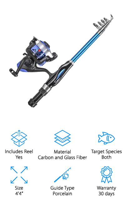 Leo Kids Telescopic Fishing Rod