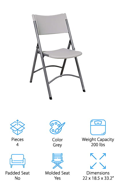 Office Star Resin Folding Chair