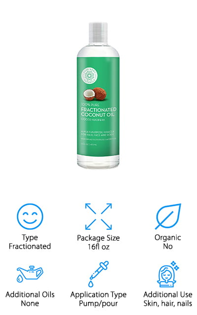 Pure Body Naturals Coconut Oil