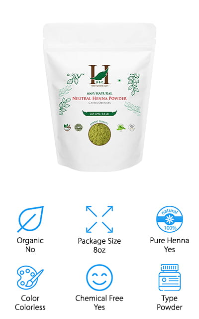 H&C Natural Henna Powder