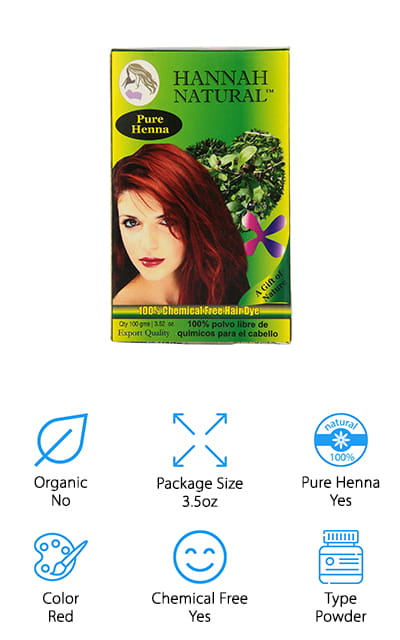 Hannah Natural Henna Powder