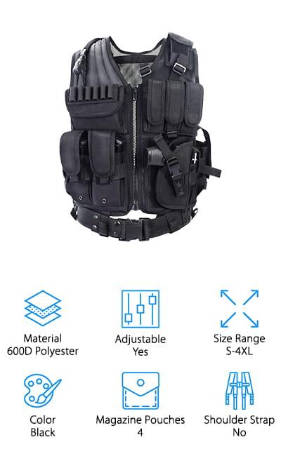 Yakeda Combat Tactical Vest