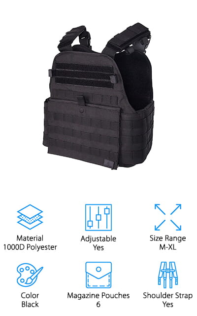GLORYFIRE Tactical Modular Vest