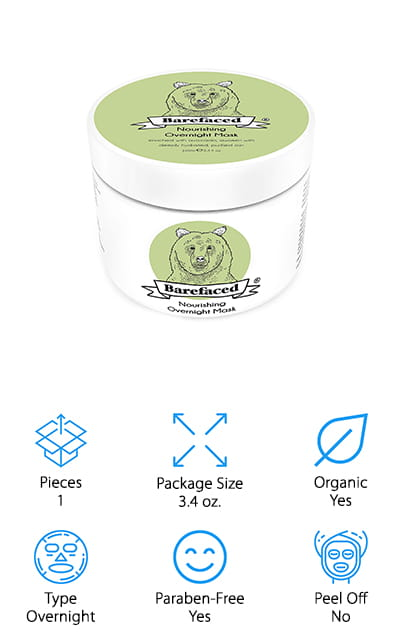 Barefaced Avocado Overnight Mask
