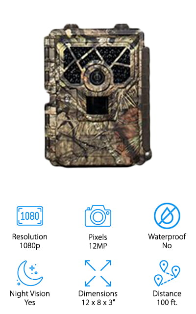 This camera from Covert Scouting Cameras is a great option if you're looking for the best night trail camera for around your home or property! We like this camera for home security use because it's easy to mount wherever you need it, and it takes high-quality images and video for your own peace of mind. It takes 12MP photos and 1080p HD video that's crisp, clear, and bright. The night vision infrared lights and noiseless camera allow animals and intruders to get caught on camera without them being spooked off before getting a good look at them. This camera comes with an AT&T wireless hookup, so you can pair this with your smartphone or laptop to monitor what's going on, change settings, or save recordings. You can also get a Verizon version of this if your area has better coverage with them. It's also a great way to monitor your property gate and allow friends and family gate access!