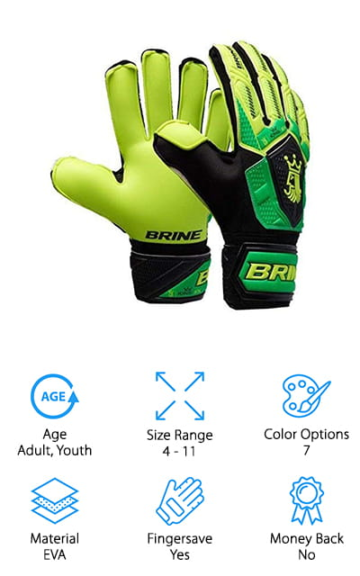 Brine King Match 3X Goalie Gloves