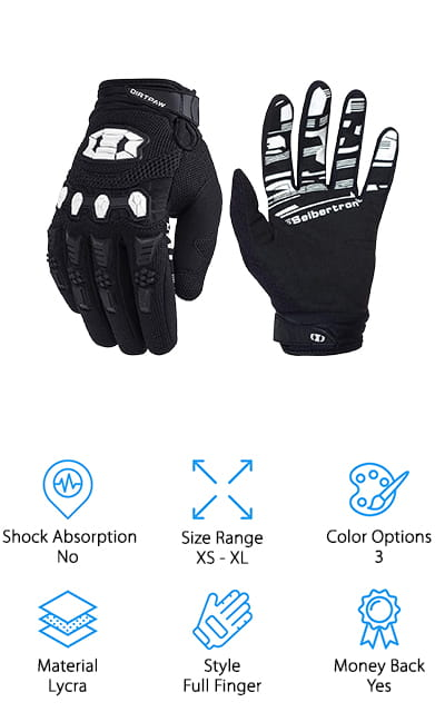 Seibertron Dirtpaw Cycling Gloves