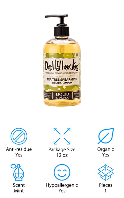 Dollylocks Tea Tree Spearmint Shampoo