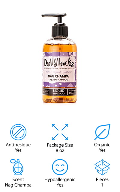 Dollylocks Nag Champa Dreadlock Shampoo