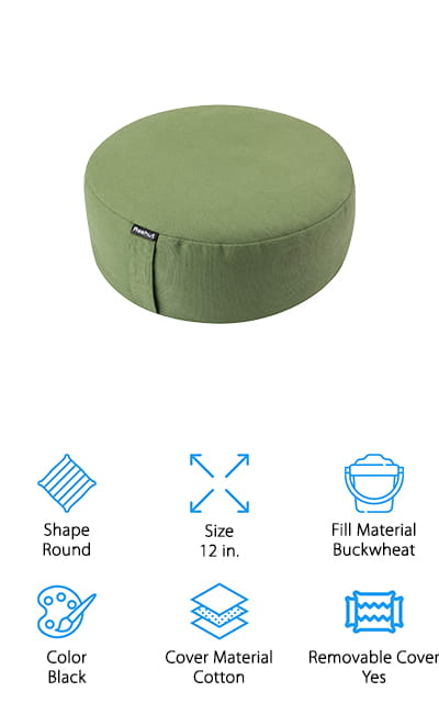 REEHUT Zafu Meditation Cushion