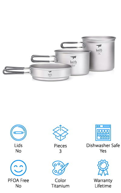 Keith Titanium Tj6014 Cook Set