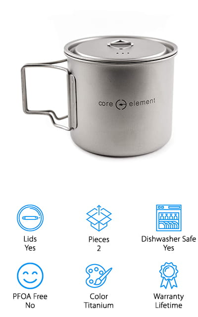 Core Element Titanium Cooking Pot