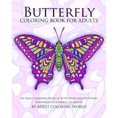 butterfly coloring book - Detailed Coloring Books
