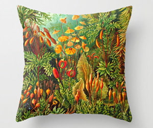 vintage biology pillow