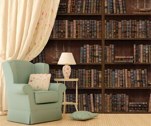 Vintage Library Wall Decal