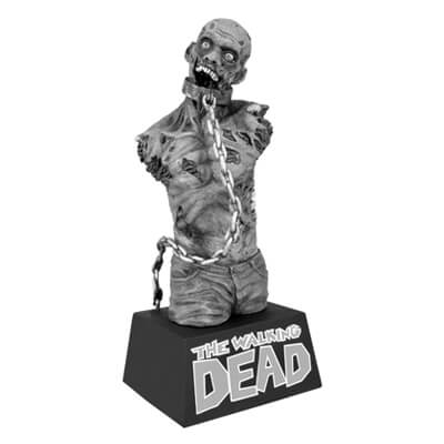 Black & White Zombie Bust