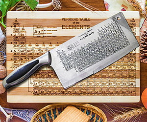 periodic table chef knife science experiment gifts - Periodic Table Of Elements Gifts