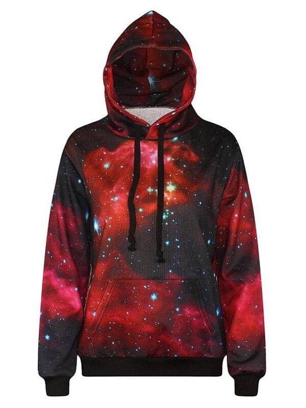 Red Galaxy Hoodie