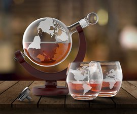 Globe Decanter & Glasses