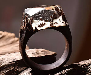 Tiny Snow Forest Ring