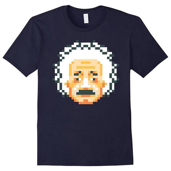 Albert Einstein Retro 8-Bit Shirt