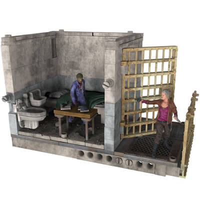 Upper Prison Cell  Set