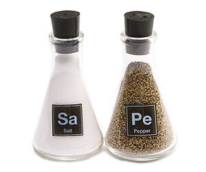 Science Salt and Pepper Shakers
