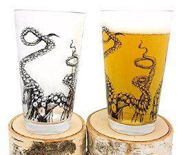 Octopus Tentacle Pint Glasses