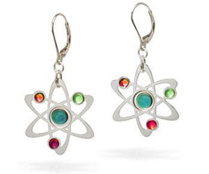 Atom Earrings Geek Jewelry