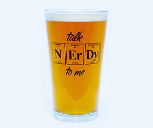 nerdy beer glass