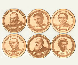 Heroes of Science Coasters